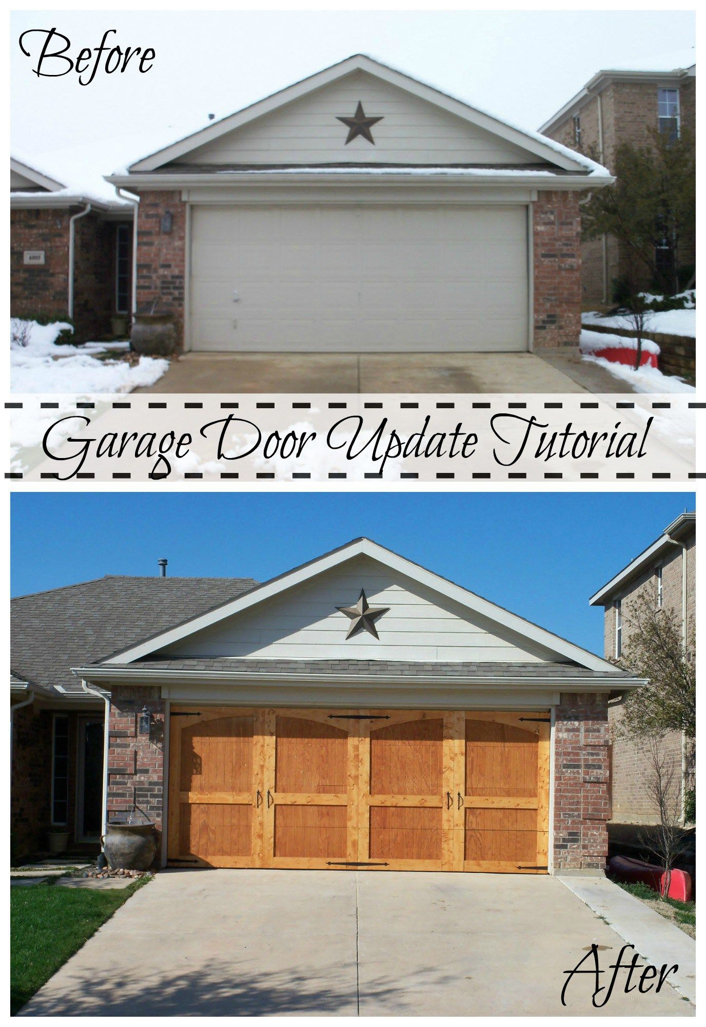 Garage Door Update Tutorial 1 Diy garage door, Garage