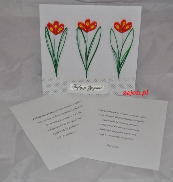 wiosenna propozycja urodzinowo-imieniowa z krokusami:)