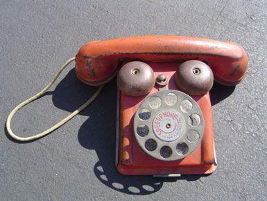 telephone, toy, vintage