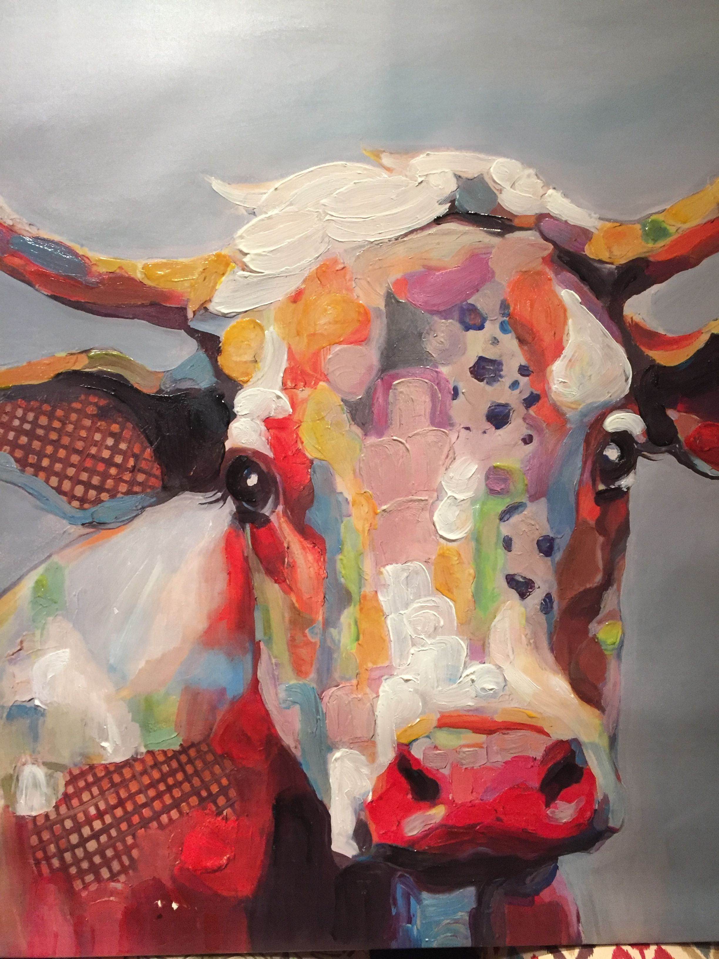 Color art printing anchorage - Betsy Cow Canvas Art Print By Kay Smith