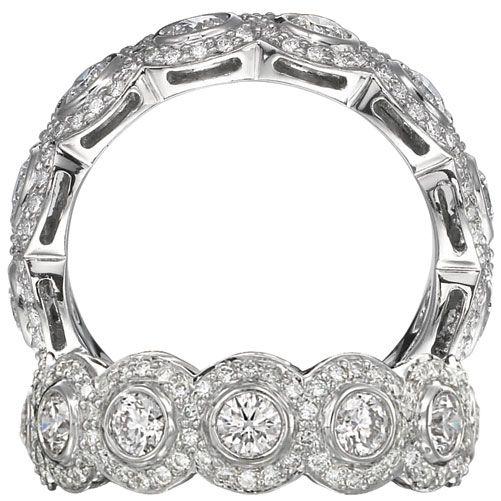 Ritani Endless Love Collection Eternity Diamond Wedding Band With Bezel Set Round Diamonds Surrounded