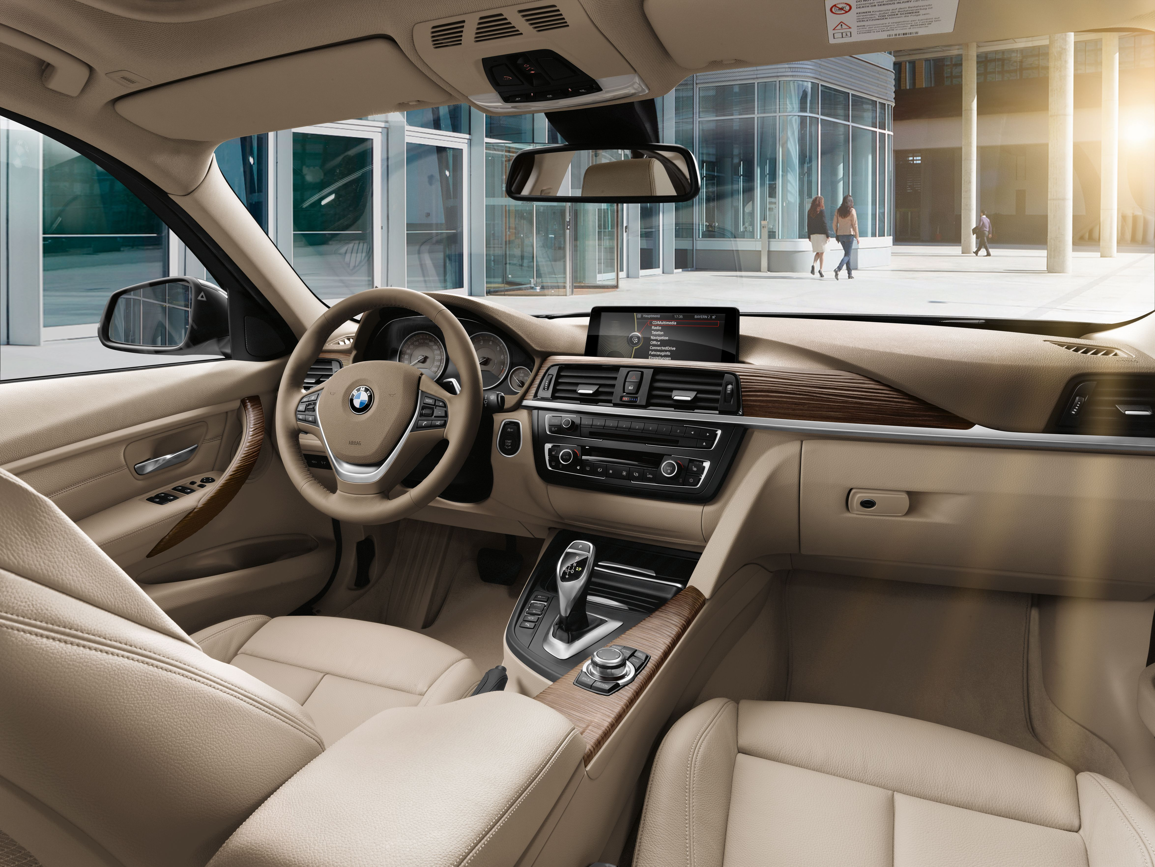 hight resolution of inside the bmw 3 series sedan the noticeable increase in space benefits the rear passengers above all bmw cars passenger noticeable space