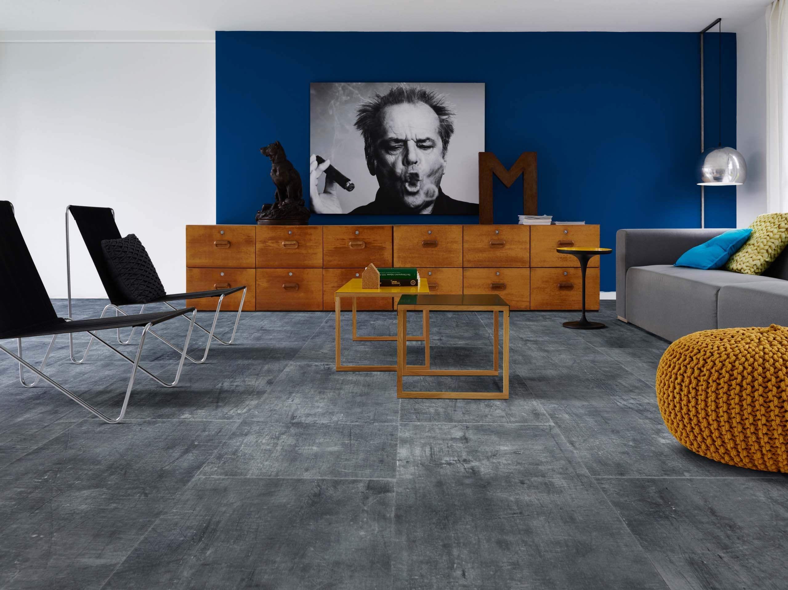 steel rock stone effect luxury vinyl flooring moduleo