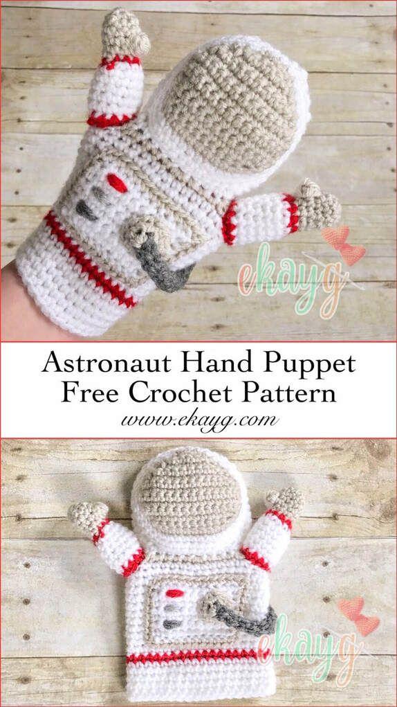 Astronaut Hand Puppet - ekayg crafts