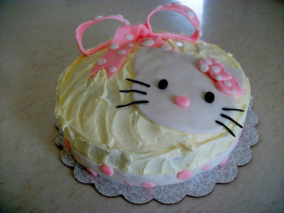 Hello Kitty Icing Cake Design : Hello Kitty cake for girl s birthday. Decorated with ...