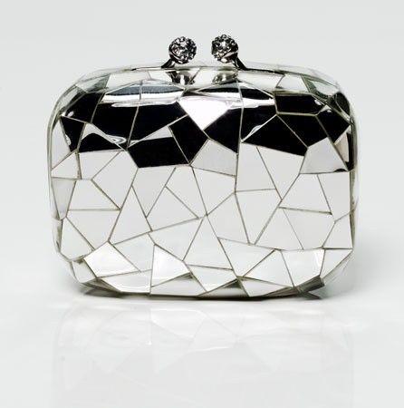 mirrored purse