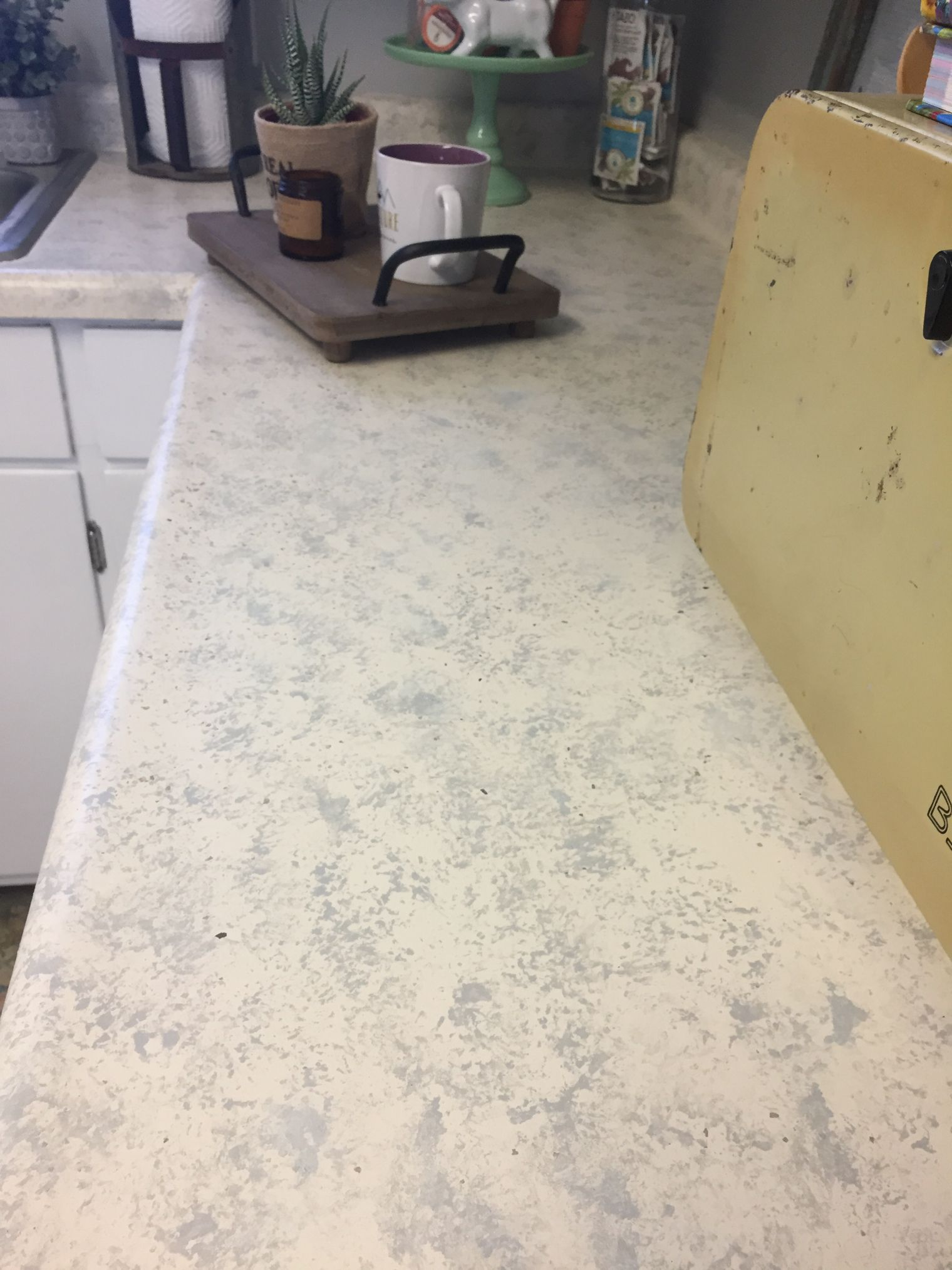 Dual Color Granite Like Finish With Beyond Paint No Stripping Sanding Or Priming All In One Paint Beyond Paint