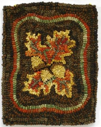 acorn hooked rug Adorable Acorns Pinterest Punch needle