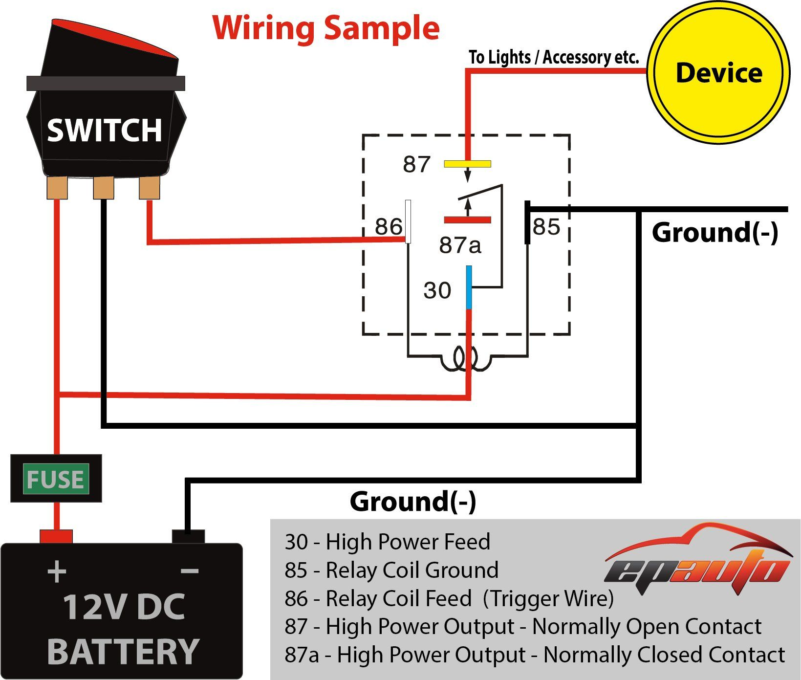 Amazon.com: 4 Pack - EPAuto 30/40 AMP Relay Harness Spdt 12V Bosch Style:  Automotive in 2020   Electrical circuit diagram, Relay, Electrical wiring  diagramPinterest