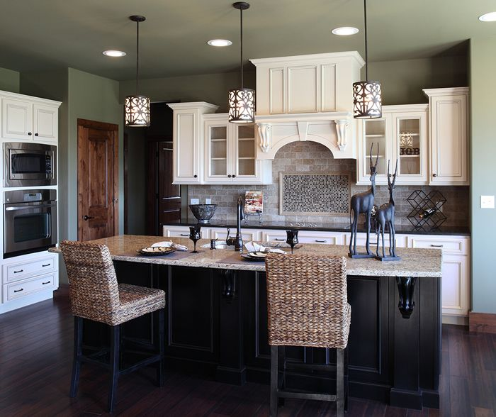 Glazing White Cabinets With Stain: Cabinet Color...Perimeter Cabinets: Soft White With Nickel