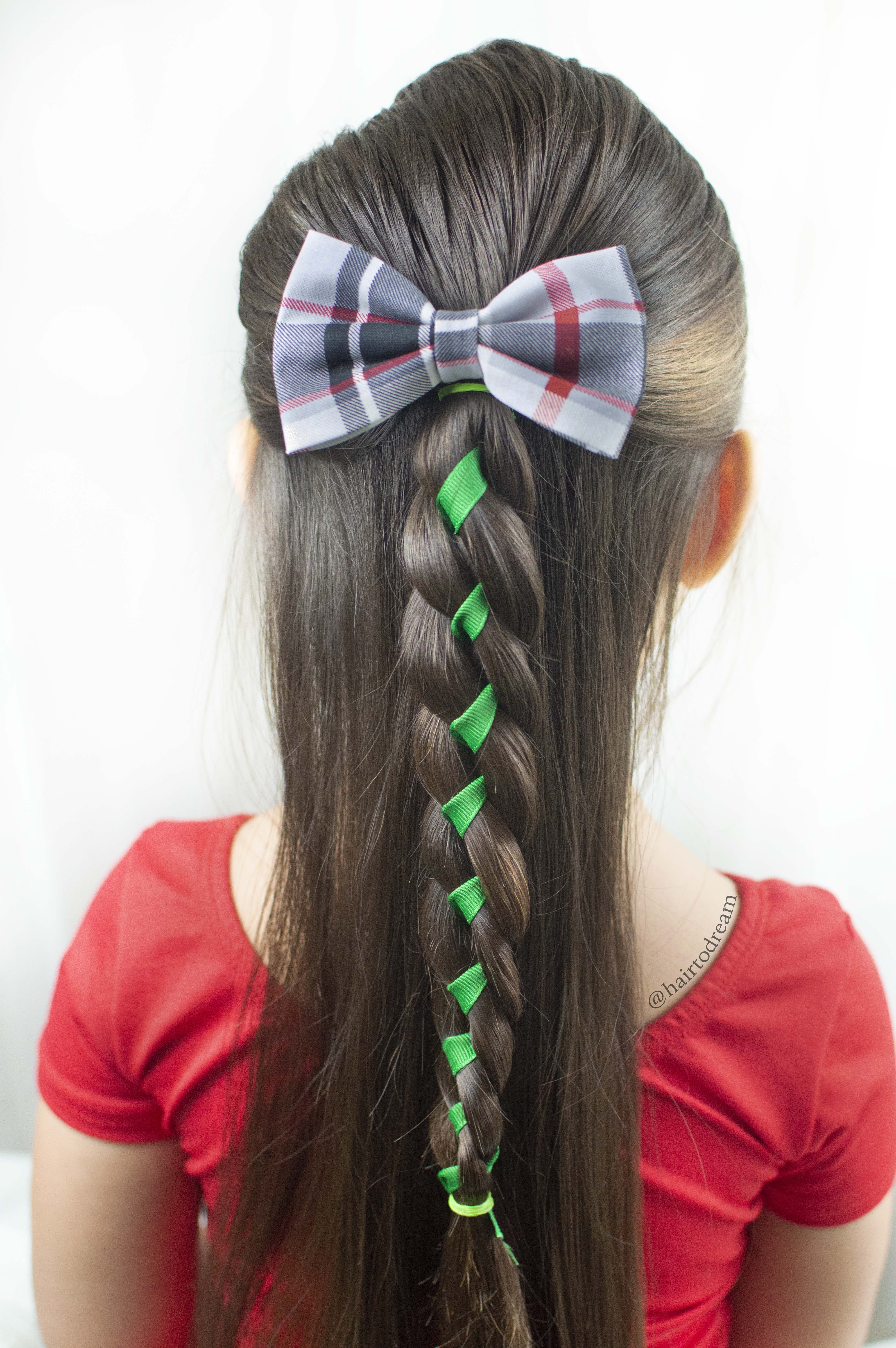 Cute and Simple Holiday Hairstyle for girls. Follow Along