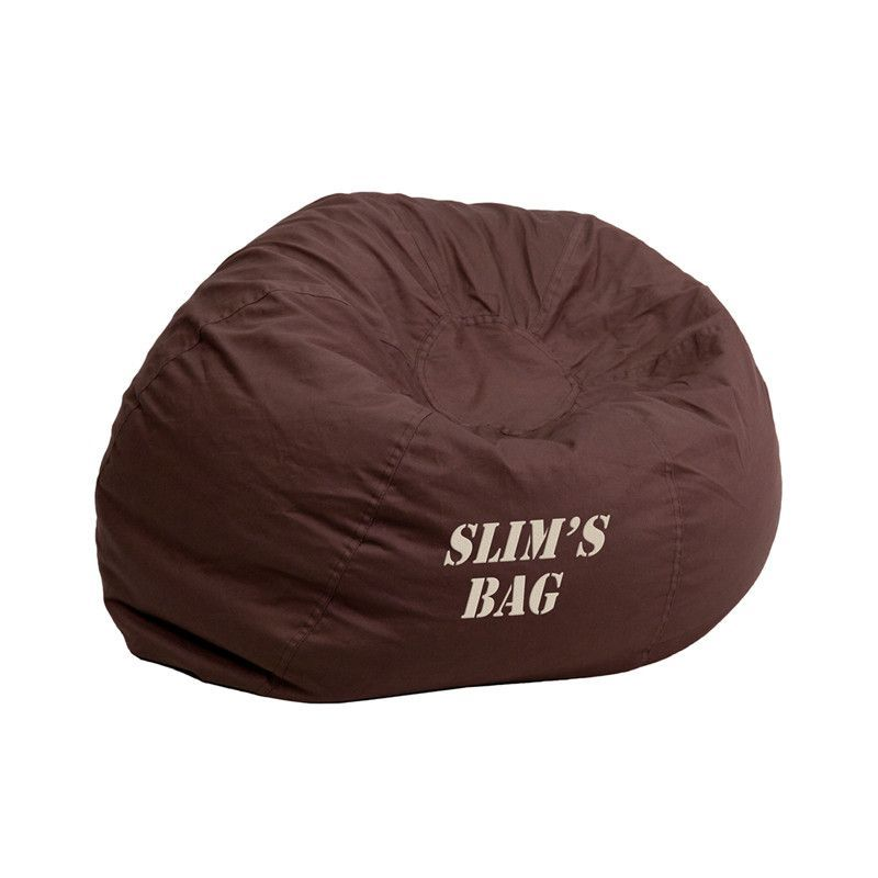 Personalized Brown Bean Bag Dg Small Solid Brn Txtemb