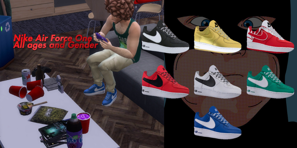 Mxxptdns4 Nike Air Force One Low Supposed To Be All Ages And Gender Download Needed Mesh By 808sims H Sims 4 Clothing Sims 4 Men Clothing Sims 4 Cc Shoes