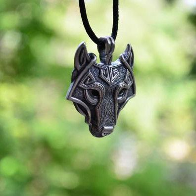 1PCS Pendant Norse Vikings Of The Necklace Norse Wolf Head Necklace Original Jewelry Animal Wolf Head hange
