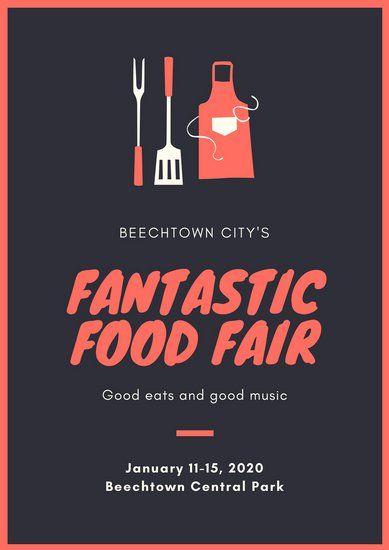 Red Food Festival Poster Food Festival Poster Food Festival