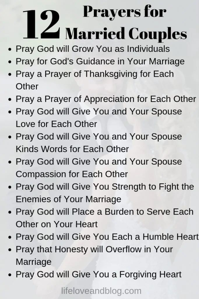 12 Best Prayers for Married Couples - Life Love and Blog