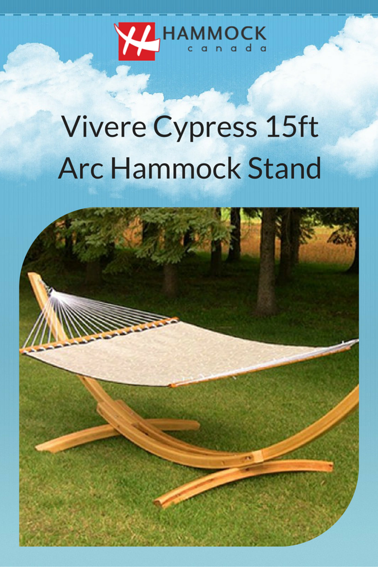 the vivere 15 ft wood arc hammock stand is crafted in beautiful cypress wood  the the vivere 15 ft wood arc hammock stand is crafted in beautiful      rh   pinterest