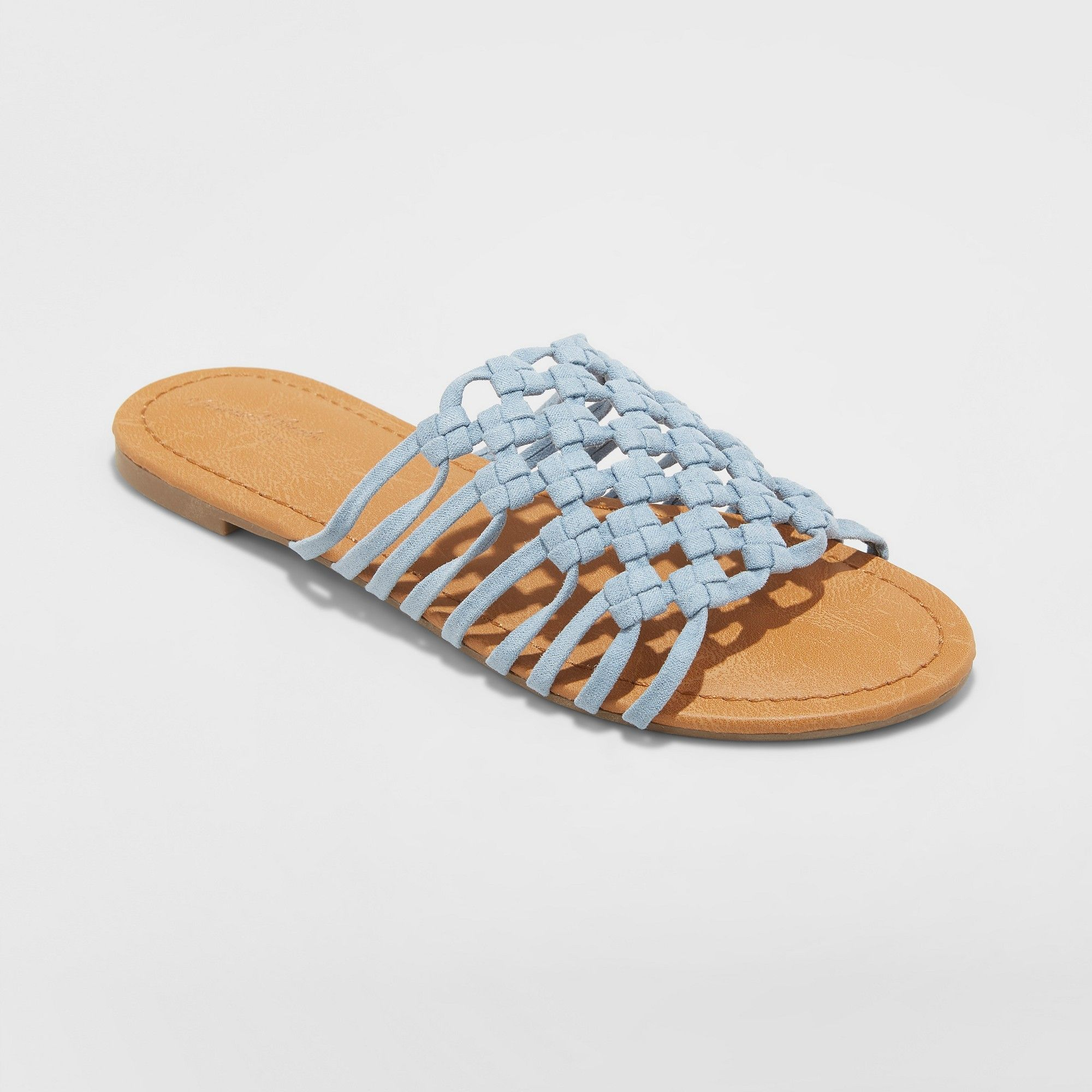a37e62e8f Women s Daphne Rope Slide Sandals - Universal Thread Blue 9 ...