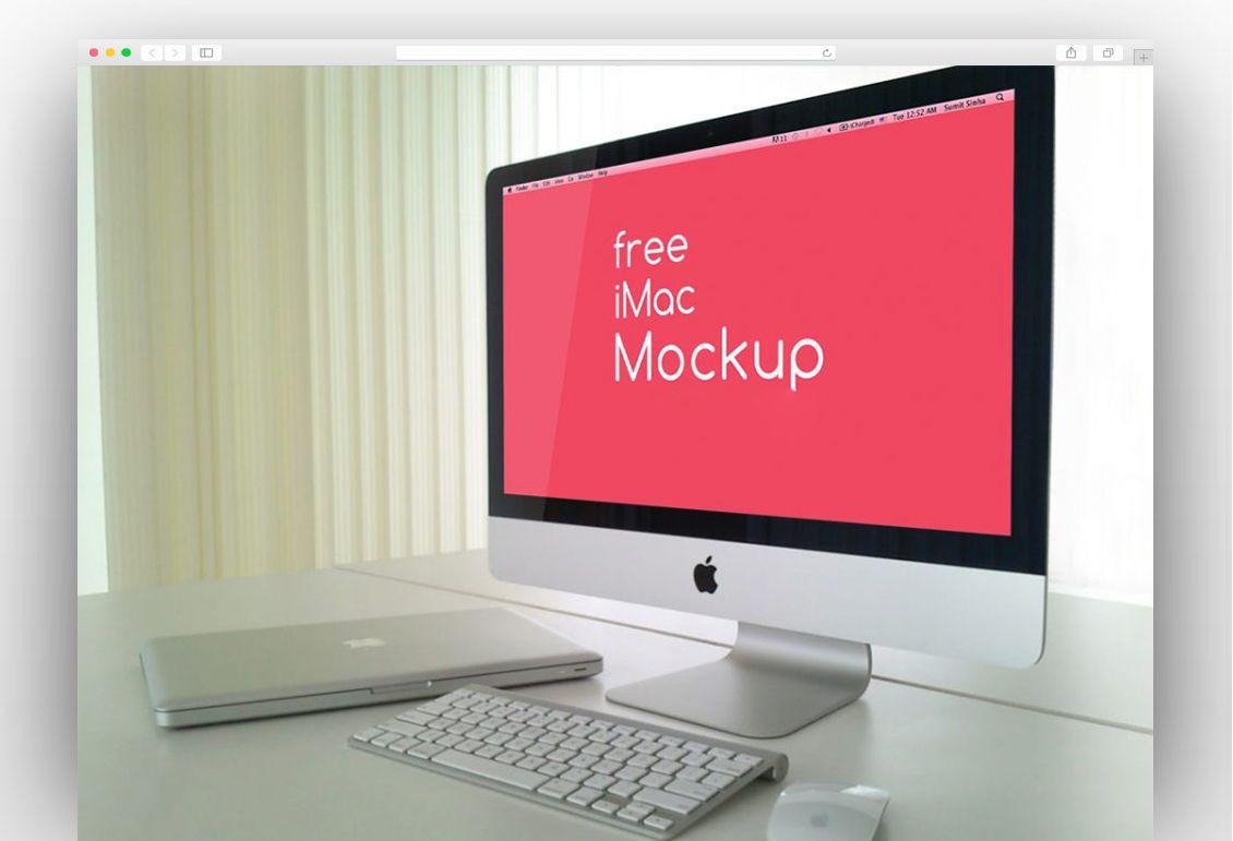 Free Psd Imac Mockup Template Imac Mockup Free Psd Template Free Imac