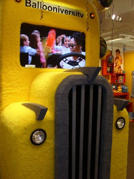 School Bus Video Display For Burton Burton Dallas Tx Props