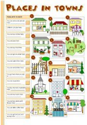 english worksheet places in towns stuff to buy vocabulary worksheets worksheets english study. Black Bedroom Furniture Sets. Home Design Ideas