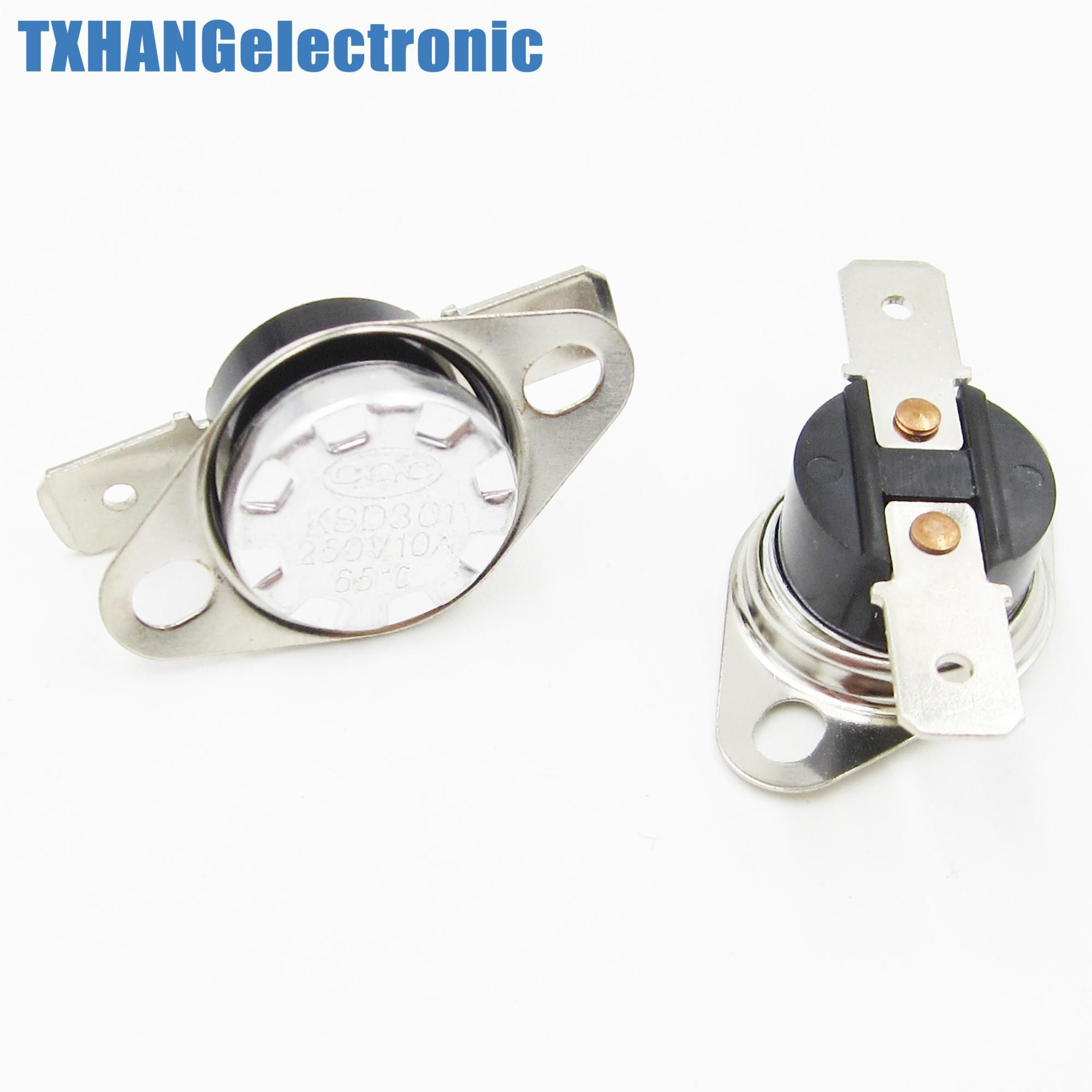 194°F Degree Celsius N.C 90°C Temperature Switch Thermostat 10A 250V KSD301