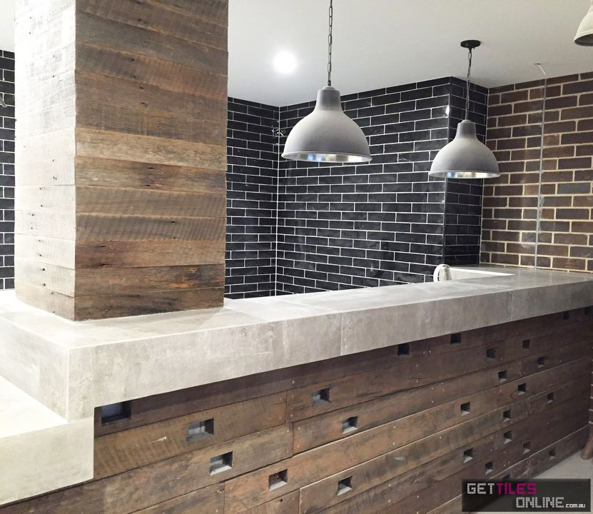 Hume Subway Black Gloss 75x300 Code00663 Get Tiles Online