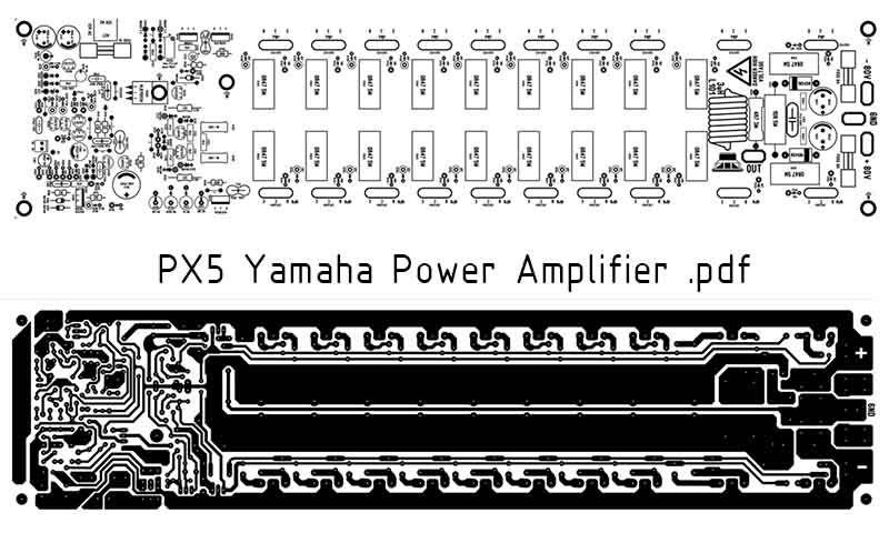 Power Amplifier PCB Layout Yamaha PX5 download PDF | alonzo