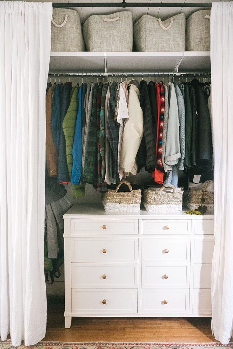 Closet Tour How To Organize A Small Closet With Getclairefied