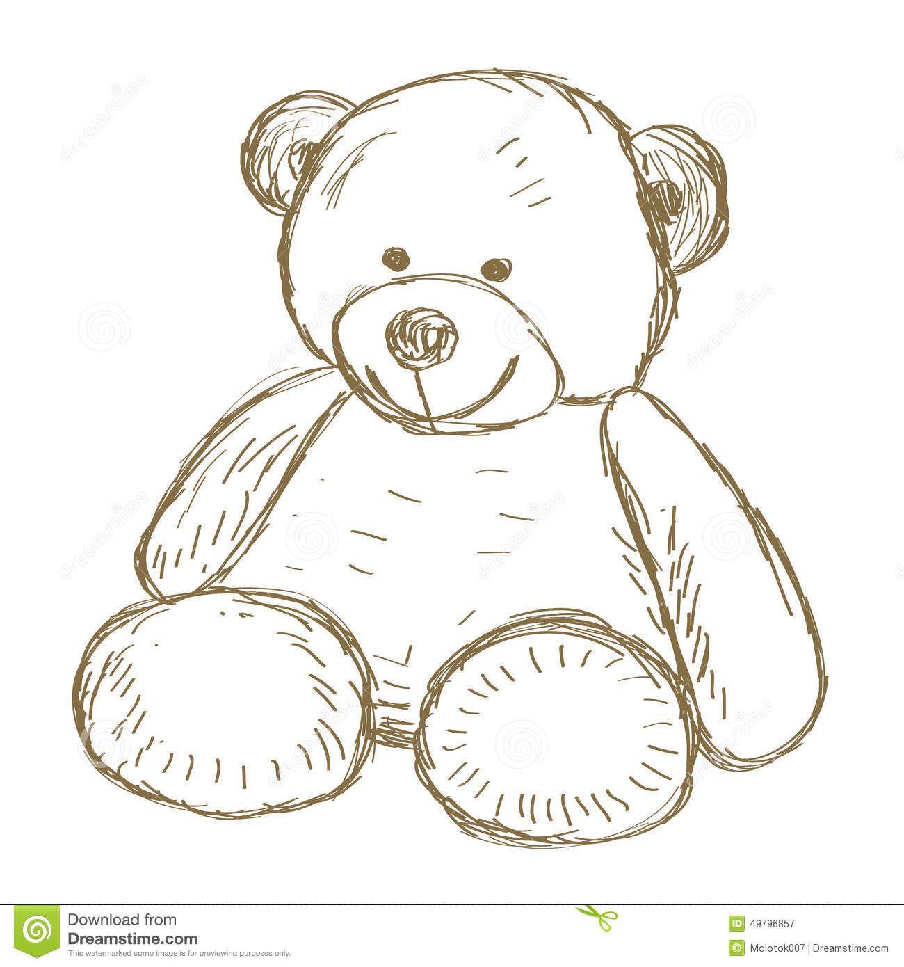Teddy Bear Doodle Vector Hand Drawn Illustration 49796857 Jpg 1300 1390 Knuffelbeer Schetsen Tekenen Teddybeer