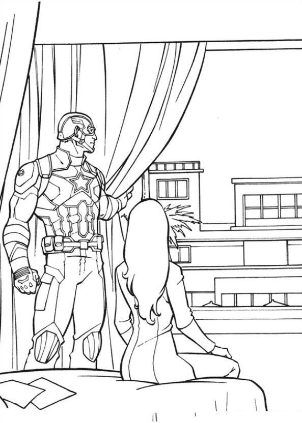 Kidsnfun Coloring page Captain