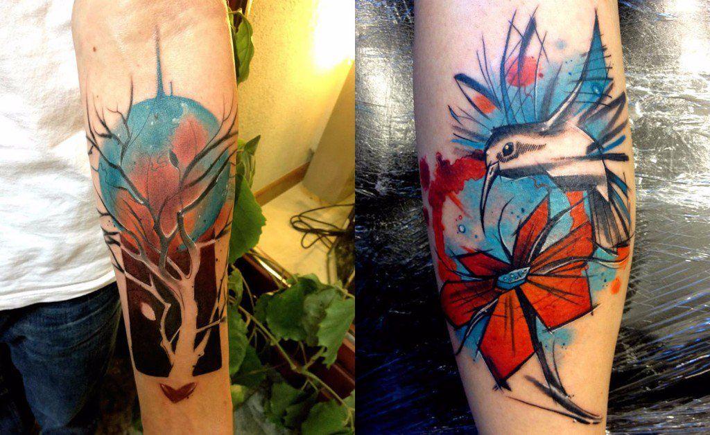 tatuajes freestyle / árbol y pájaro
