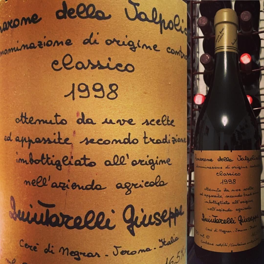 1998 Giuseppe Quintarelli della Valpolicella Classico. Defines a mature Amarone - perfect concentration, intense with superb balance. #amarone #amaronelovers #italianwine #finewine #veneto #italianwinelovers #wine #wein #viniitaliani #vino  #vinho #vinelsker #vinsmagning #vin #instawine #winepic #winelovers #giuseppequintarelli #quintarelli #vinprovning #stockholm #appelviken #äppelviken #instapic #instagood #corvinablend #winegeek #viniitaliani #vinirossi #vinoitaliano