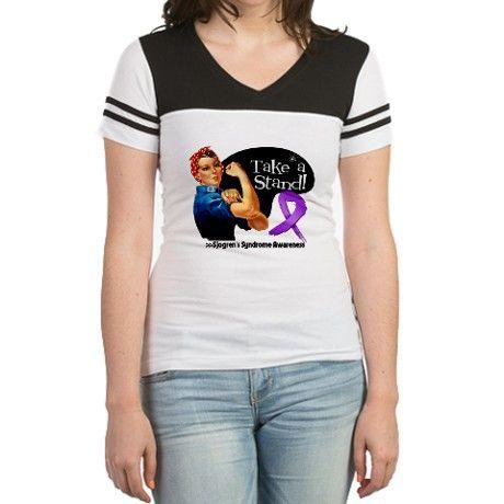 I Wear Blue For Sjogrens Syndrome Awareness Ribbon T-Shirt