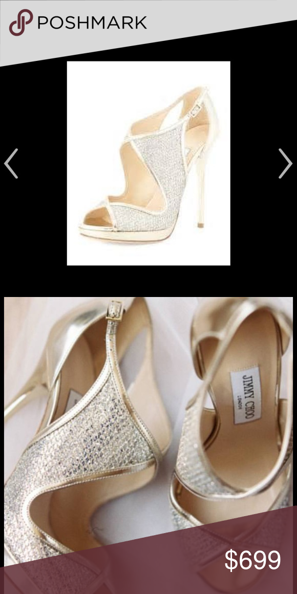 9fed5de1e858 Jimmy Choo Leondra Shoes Gorgeous champagne gold open toe shoes! These are  showstoppers. Brand