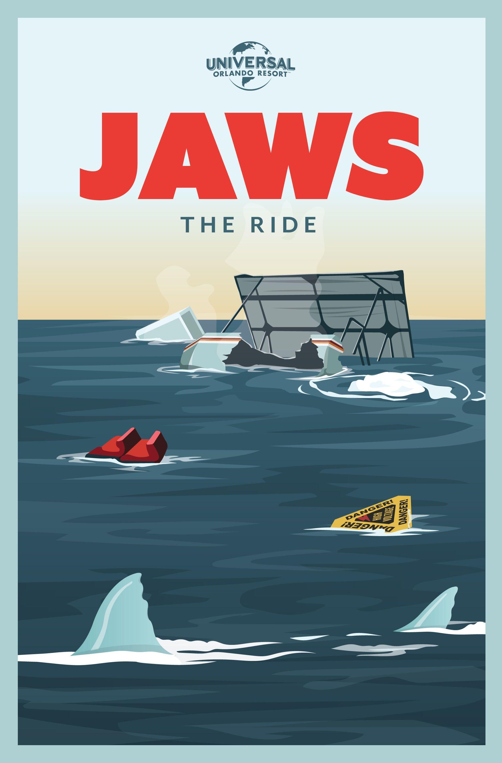 Retro Jaws poster