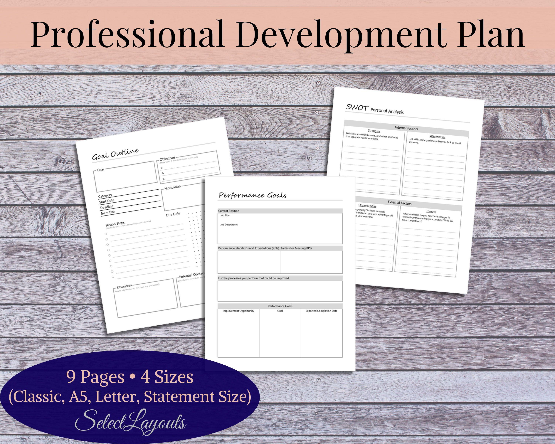 Professional Development Plan Printable Template In