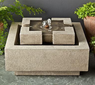 Celso Fountain, Sand – Outdoor – Garden Decor – Pottery Barn