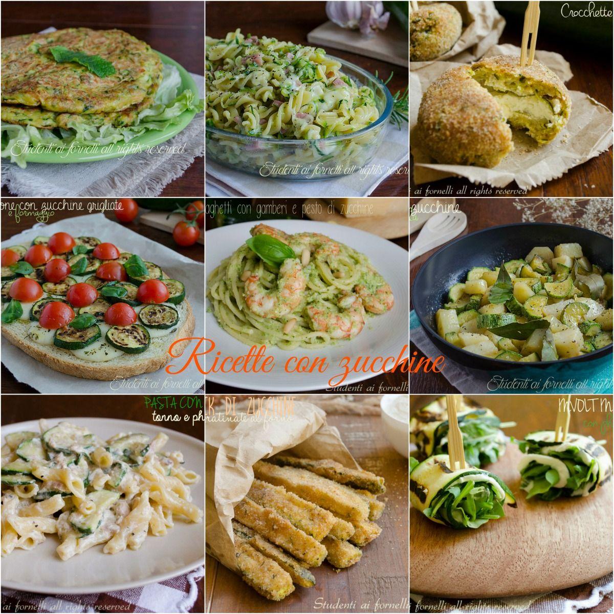 Piatti Freddi Veloci Da Asporto raccolta di ricette con le zucchine, ricette facili e veloci