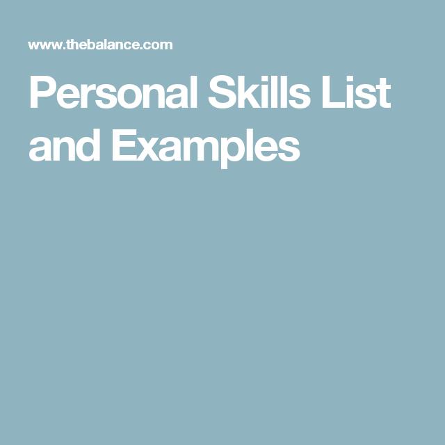 List of Personal Skills | Work Smarter~Not Harder | Pinterest ...
