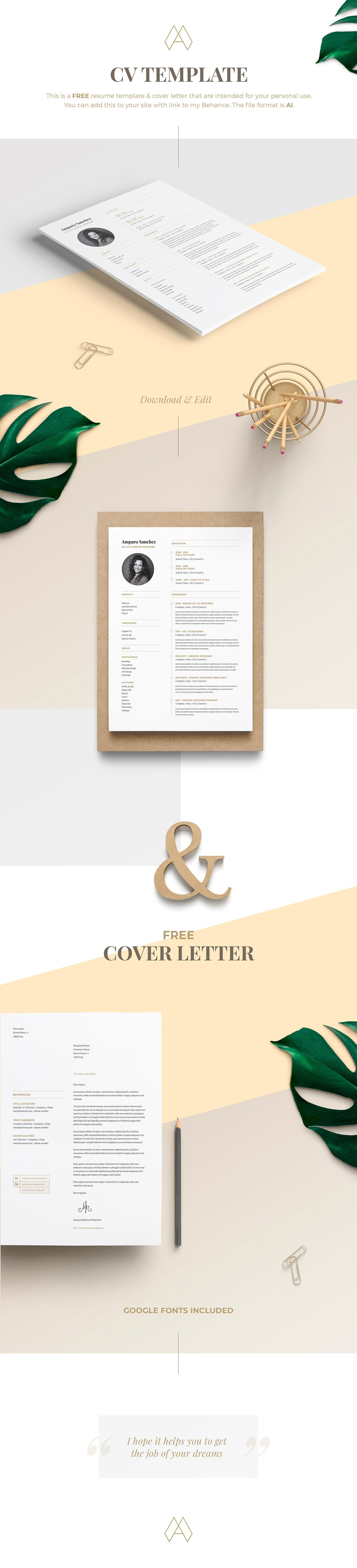 Resume CV Cover Letter Template Free Download!!