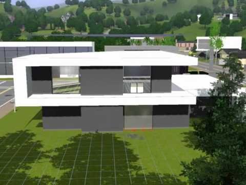 Modern House, Casa Café. THE SIMS 3 - YouTube | Projets | Pinterest