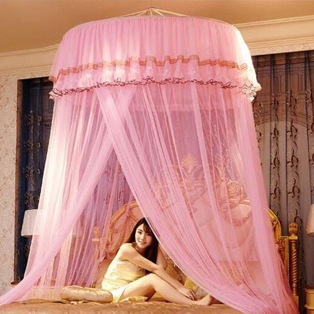 Boho Luxury Mosquito Net Curtain Bedding Princess Canopy Bed