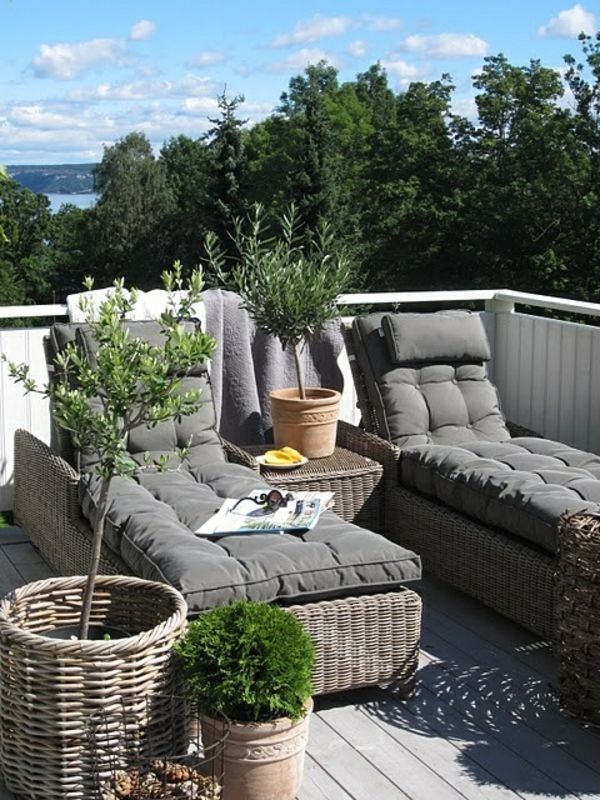 rattan terrassenm bel f r eine erholungsoase terrasse pinterest terrasse garten und balkon. Black Bedroom Furniture Sets. Home Design Ideas
