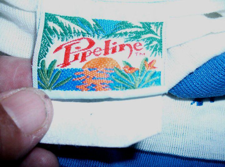 The original PIPELINE® neck label. Check out the new PIPELINE at http://www.pipelinegear.com