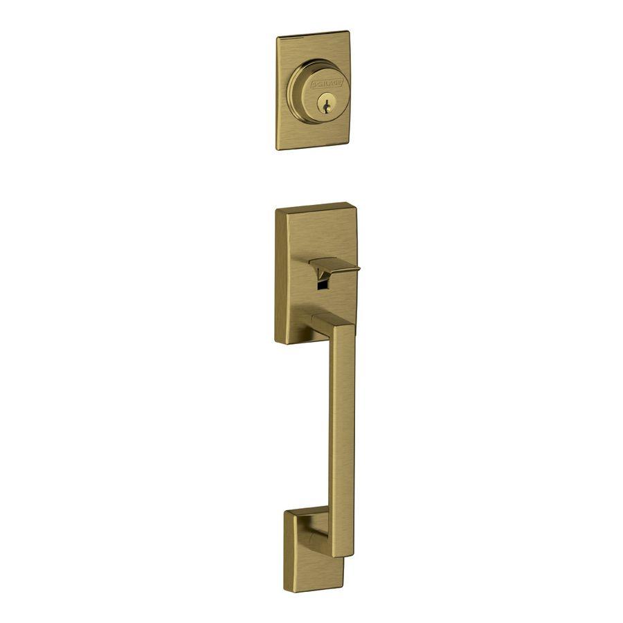 antique brass door handles. schlage century adjustable antique brass entry door exterior handle handles