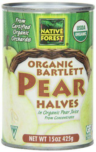 Native Forest Organic Bartlett Pear Halves, 15-Ounce - http://goodvibeorganics.com/native-forest-organic-bartlett-pear-halves-15-ounce/