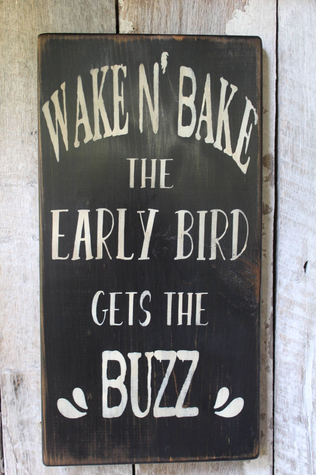 Wake And Bake Early Bird Catches The Buzz Weed Pot High Hoodie Pullover