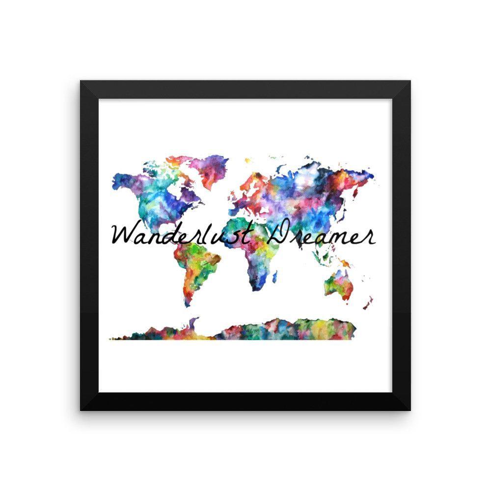 Wanderlust Dreamer Framed poster
