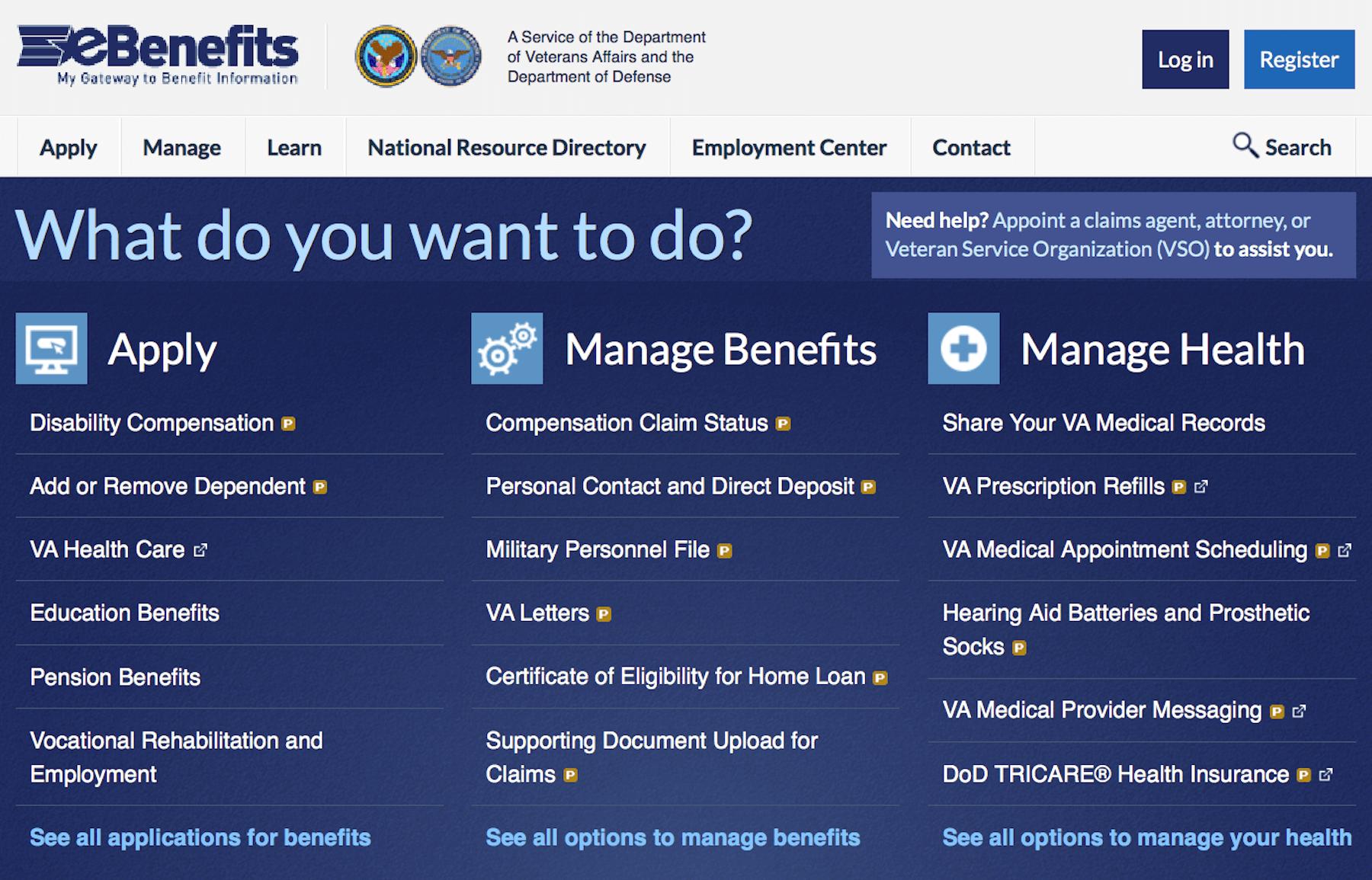 Va Ebenefits Login Ebenefits Va Gov Department Of Veterans